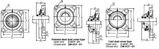ucf209-111d1轴承 nsk轴承ucf209-111d1报价尺寸