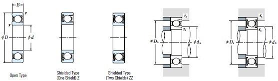 防尘轴承结构图